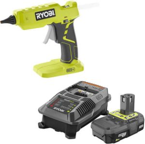 Ryobi Glue Gun P305 with Charger & Lithium-ion Battery P163 18 Volt One+ 2.0Ah battery and Charger