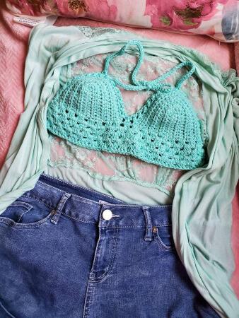 Siren's Festival Easy Crochet Bralette Pattern by CraftyHandsUSAShop