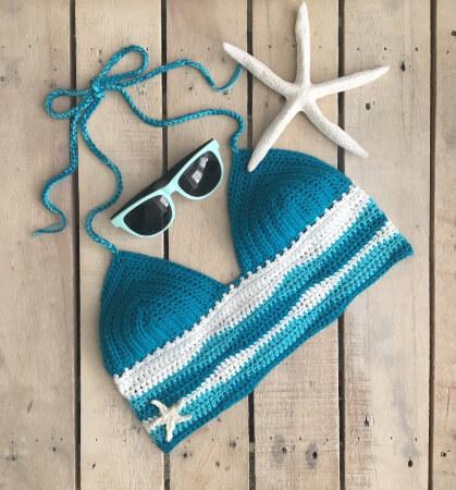 The Ocean Bralette Crochet Pattern by EvelynAndPeter