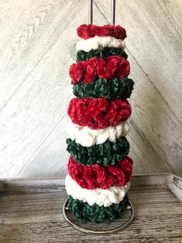 Velvet Christmas Hair Scrunchie Pattern by CanuckCreativityShop