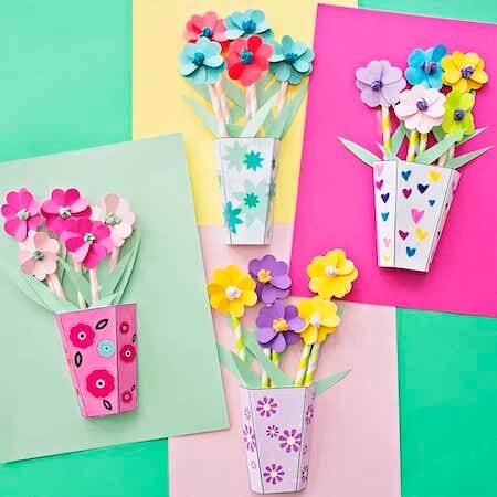 3D Paper Bouquet DIY by Hello Wonderful