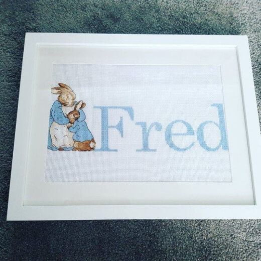 Beatrix Potter Cross-Stitch for baby room