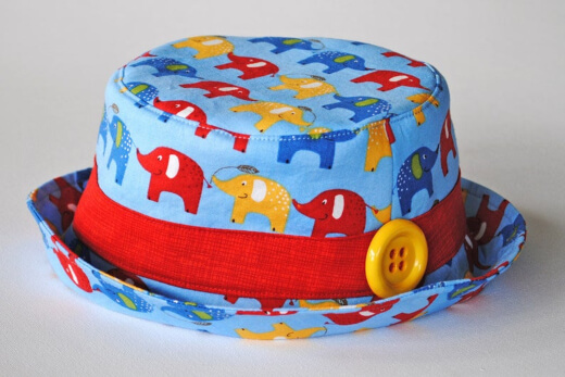 Boys and Girls Bucket Hat Sewing Pattern by AngelLeaDesigns