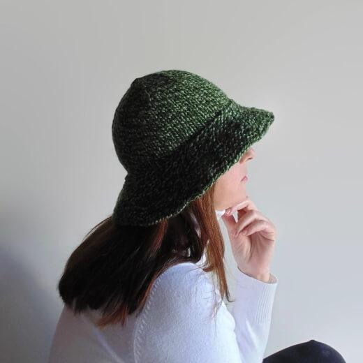 Bucket Hat Knitting Pattern by Branda