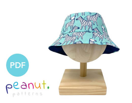 Bucket Hat Sewing Pattern by PeanutPatterns
