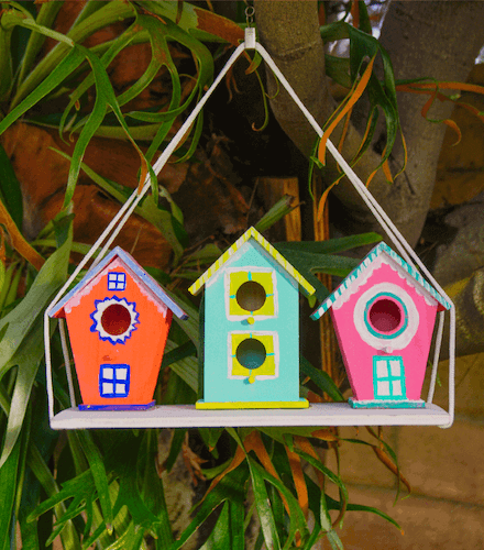 DIY Christmas Village Birdhouses by Made With Happy