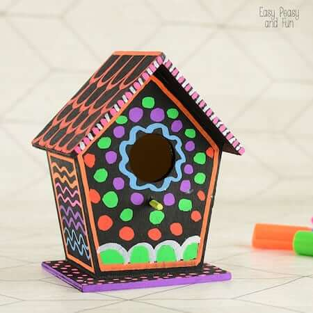 DIY Colorful Birdhouse by Easy Peasy And Fun