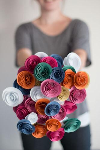 DIY Easy Paper Flowers by Pure Sweet Joy