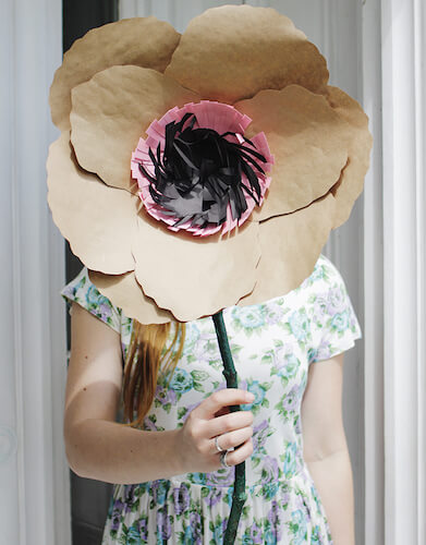 DIY Giant Kraft Paper Flowers by The Merry Thought