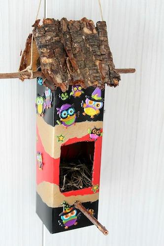 DIY Milk Carton Birdhouse by The Seaman Mom