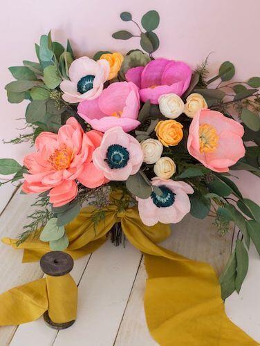 DIY Paper Flower Bouquet by Ruffled