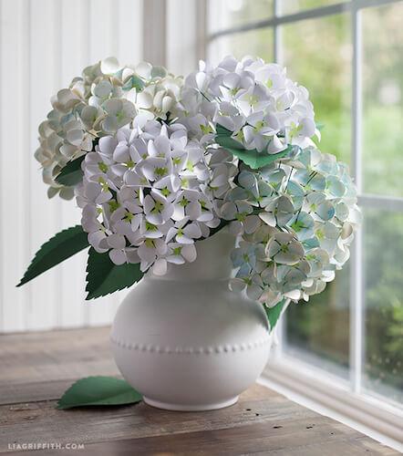 DIY Paper Hydrangeas by Lia Griffith