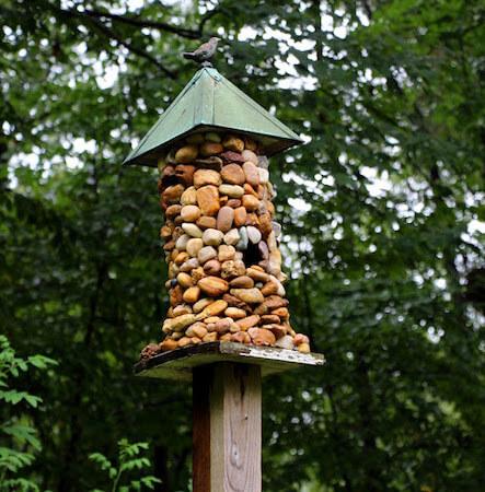 DIY Stone-Covered Birdhouse by Hobby Farms