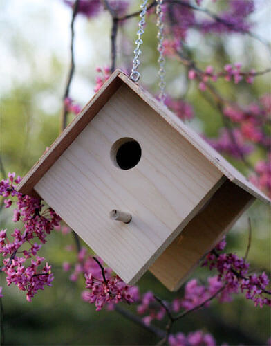 DIY Wooden Birdhouse by Skip To My Lou