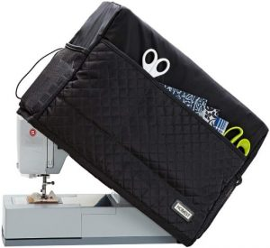 HOMEST Quilted Sewing Machine Dust Cover with Storage Pockets