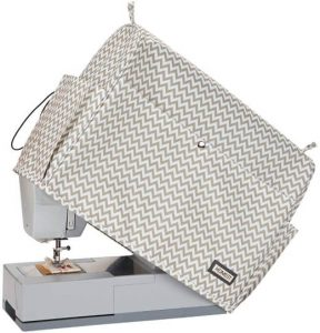 HOMEST Ripple Sewing Machine Dust Cover with Storage Pockets