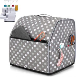 Luxja Serger Machine Cover with Storage Pockets