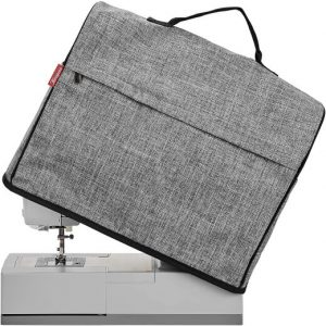 NICOGENA Sewing Machine Dust Cover with Top Handle and Pockets