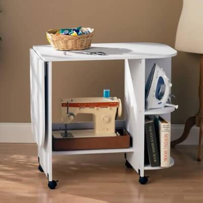 SEI Furniture Eaton Expandable Sewing Table