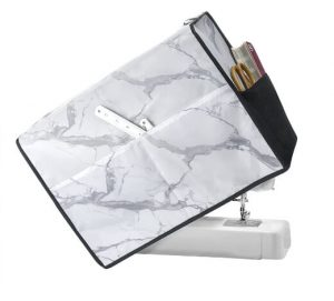 Sewing Machine Dust Cover with Storage Pockets and Side Handle