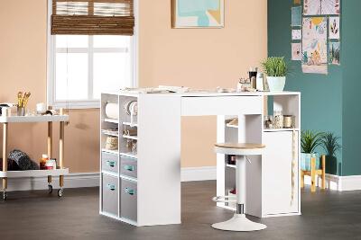 South Shore Crea Counter-Height Craft Table
