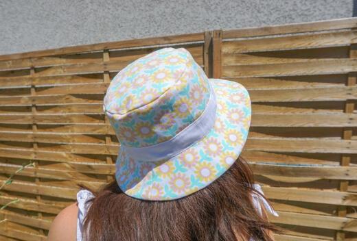 Teen, Men and Women Sun Bucket Hat Sewing Pattern by Tiedyediva