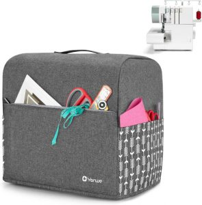 Yarwo Serger Sewing Machine Cover with Top Handle and Pockets