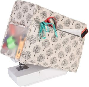 Yarwo Sewing Machine Cover, Protective Dust Cover with Pockets