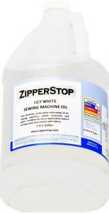 Zipper Stop Lily White Sewing Machine Oil