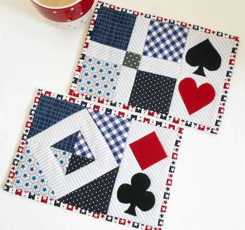 Aces High Quilted Placemat Pattern by Patchsmith