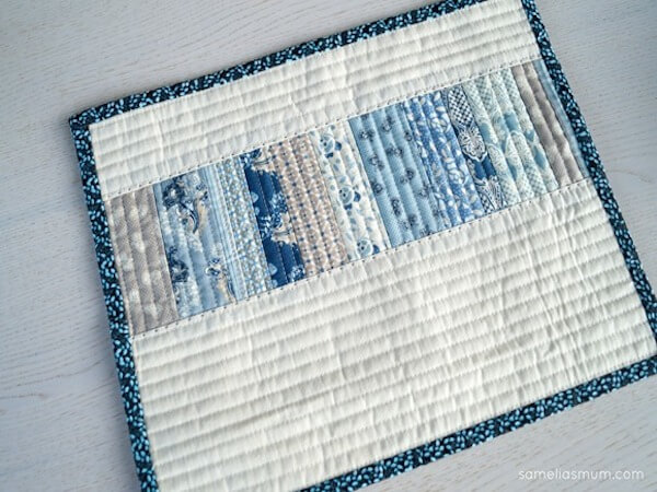 All In A Row Quilted Placemats Free Pattern by Samelia's Mum