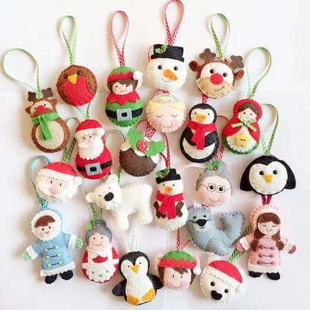 All Wrapped Up Christmas Ornaments by Sew Sweet UK
