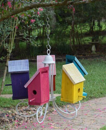 Birdhouse Chandelier Tutorial by Dream A Little Bigger