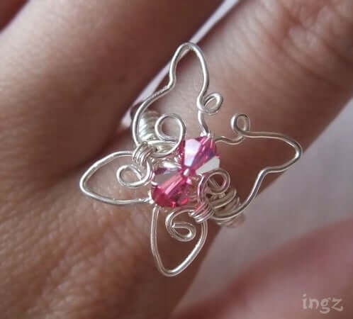 Butterfly Wire Wrapped Ring by Ingz Jewel