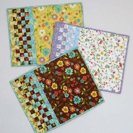 Check It Out Quilted Placemats Pattern by Fabric 406
