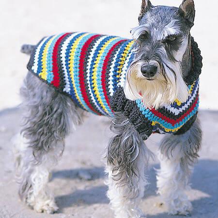 Crochet Dog Coat Pattern by Yarnspirations