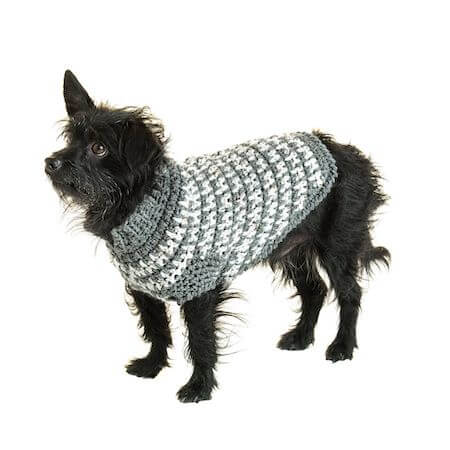 Crochet Houndstooth Dog Sweater Pattern by Red Heart