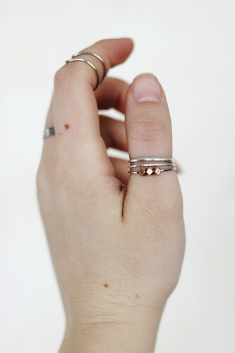 DIY Beaded Ring by The Merry Thought