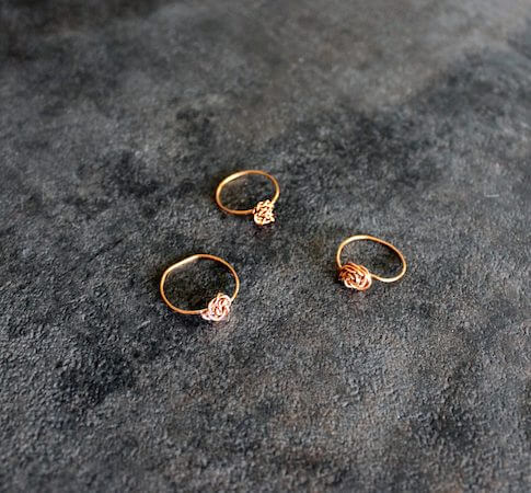 DIY Dainty Stacking Wire Ring by Creative Fashion Blog