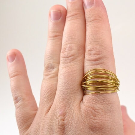 Easy DIY Wire Wrapped Rings by Dream A Little Bigger