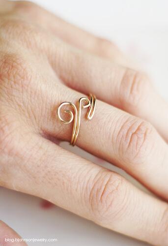 DIY Swirl Ring by Oh Everything Handmade