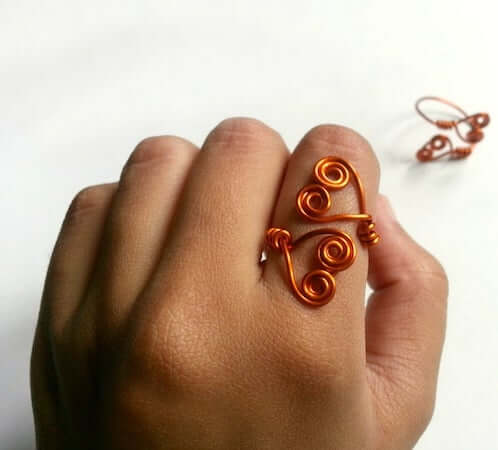 DIY Swirly Double-Heart Ring by Instructables