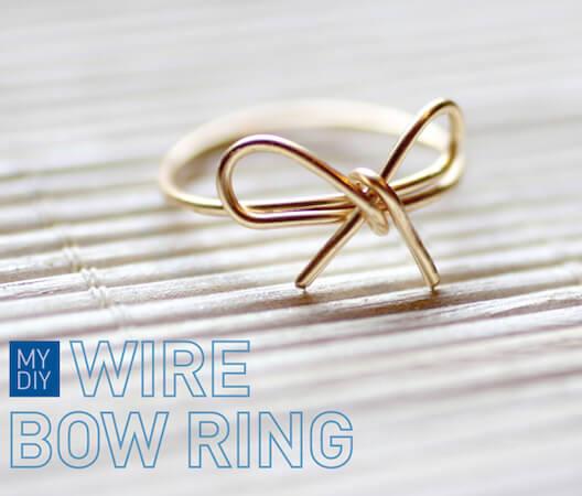 DIY Wire Bow Ring by I Spy DIY