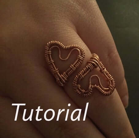 DIY Wire Double Hearts Ring by Kind Designs Online