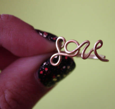 DIY Wire Love Ring by Why Don't You Make Me