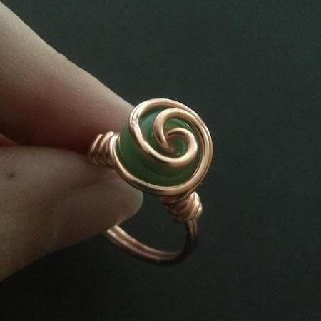 DIY Wire Wrapped Spiraling Ring by Kind Designs Online
