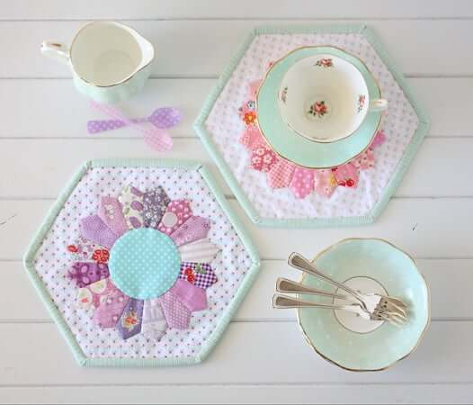 Dresden Quilted Placemat Pattern by A Spoonful Of Sugar