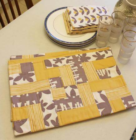 PeasyEasy Quilted Placemat Pattern by Punkin Patterns