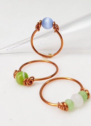 Easy Spinner Wire Wrapped Ring by The Beading Gem