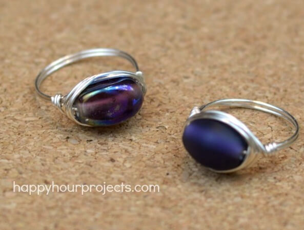 Easy Wire Wrapped Ring by Happy Hour Projects